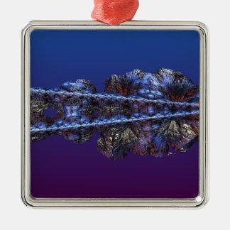 Ett handlag av frost - landskap julgransprydnad metall