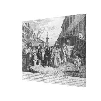 Ett hastigt bröllop, 1747 canvastryck