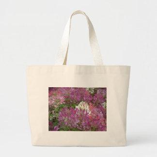 Ett hav av den oavkortade blomsommartiden för lila jumbo tygkasse