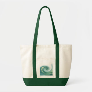 Ett hav av gröntvågar tygkassar