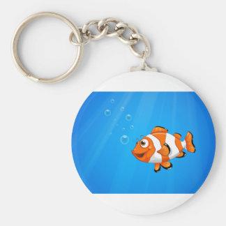 Ett hav med en nemofisk rund nyckelring