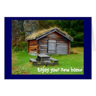 Ett hem i bergen hälsningskort