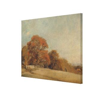 Ett höstligt landskap på östliga Bergholt, c.1805- Canvastryck