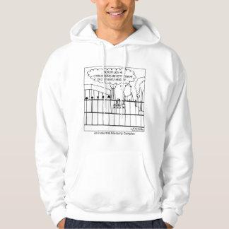 Ett industriellt mindervärdeskomplex sweatshirt med luva