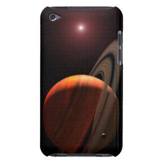 Ett jätte- planet för gasa som orbiting en röd barely there iPod covers