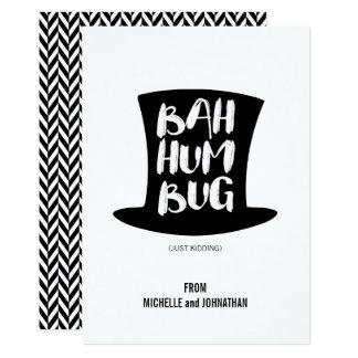Ett kort för helgdag för julsångBah Humbug 12,7 X 17,8 Cm Inbjudningskort