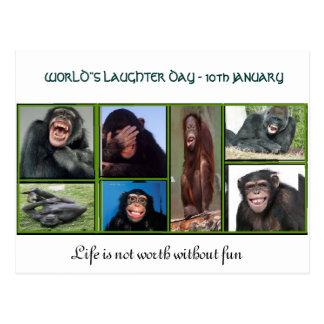 Ett kort för världs laughterdag