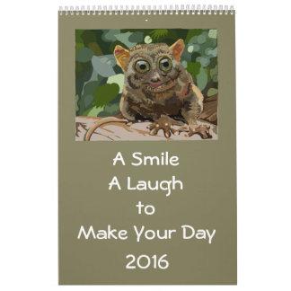 Ett leende, ett skratt, att tända din dag 2016 kalender
