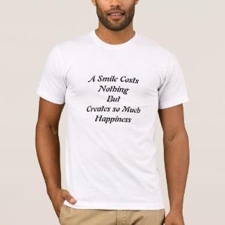Ett leende kostar ingenting t shirts