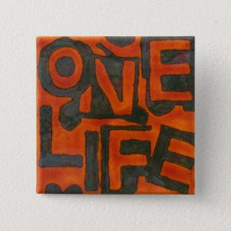 Ett liv knäppas standard kanpp fyrkantig 5.1 cm
