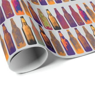 ett mönster av flaskor (öl) presentpapper