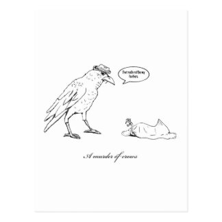 Ett mord av kråkor vykort