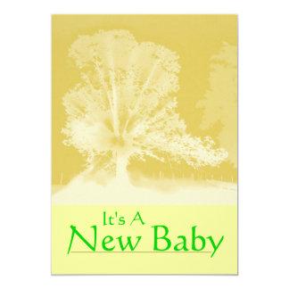 Ett nyfödd bebismeddelandekort 12,7 x 17,8 cm inbjudningskort