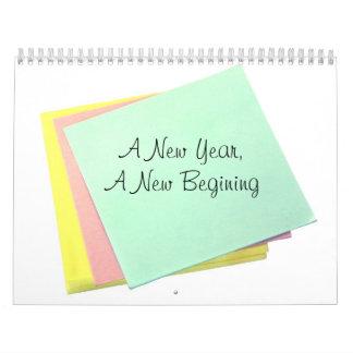 Ett nytt år en ny början kalender