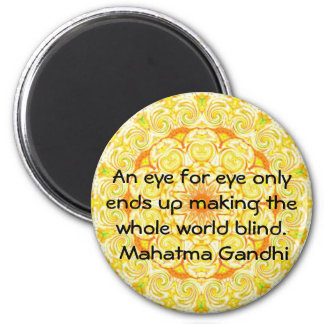 Ett öga för det öga… Gandhi citationstecknet Kylskåpsnagnet