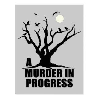 Ett pågående mord vykort