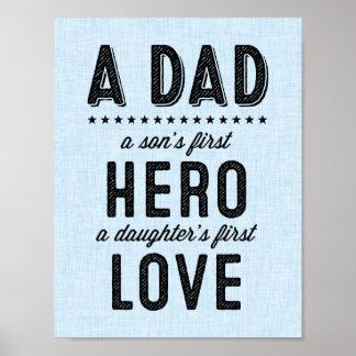Ett pappatypografitryck poster