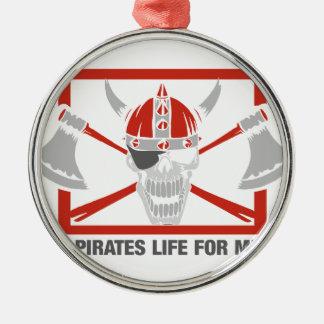 Ett piratliv för mig julgransprydnad metall