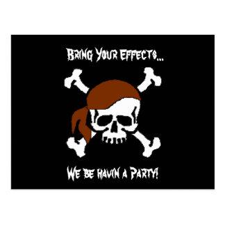 Ett piratparty vykort