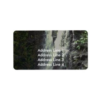 Ett plötsligt tappar adressetikett