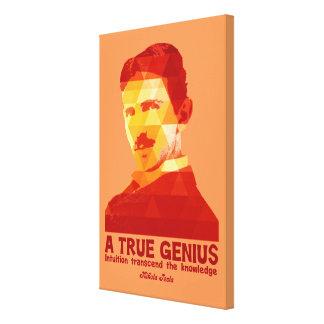 Ett riktigt snille - Nikola Tesla- Canvastryck