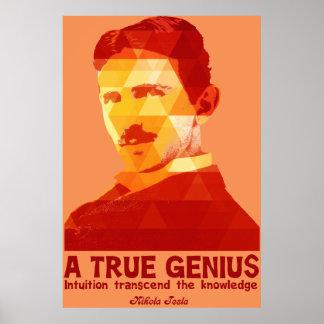 Ett riktigt snille - Nikola Tesla- Poster