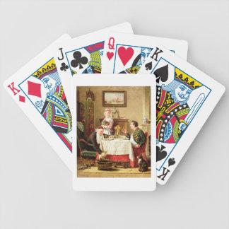 Ett Satisfying mål, 1883 (olja på kanfas) Spel Kort