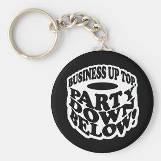 Ett skägg är ett party besegrar nedanfört rund nyckelring