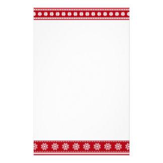 Ett slags tvåsittssoffa för mönster för julhelgdag brevpapper