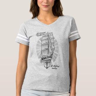 Ett slätahav gjorde aldrig en kompetent sjöman tee shirt