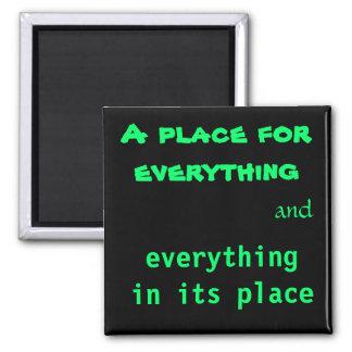 Ett ställe för allt magnet