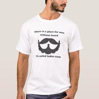 Ett ställe som är för manar utan skäggtshirten tee shirt