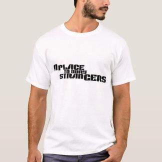 Ett ställe som begraver främlinglogotyptshirten t shirt