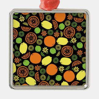 Ett stänk av citruset julgransprydnad metall