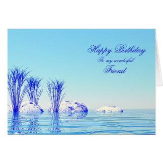 Ett stillsamt platsfödelsedagkort för en vän hälsningskort
