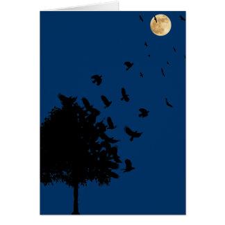 Ett träd av kråkor hälsningskort