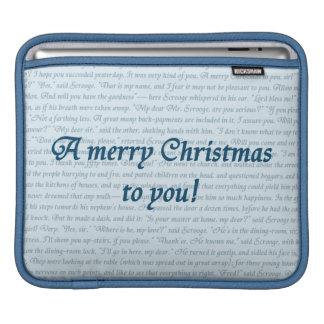 Ett tvåsidigt julsångcitationstecken sleeve för iPads