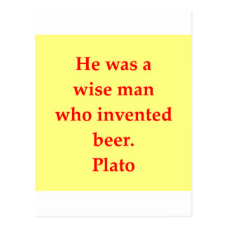Ett underbart Plato citationstecken Vykort
