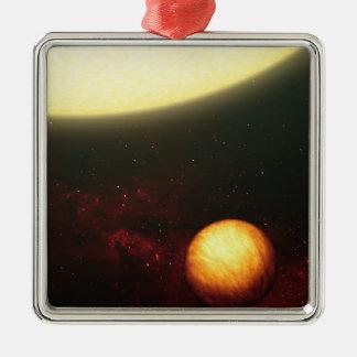 Ettnågot liknande planet julgransprydnad metall