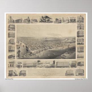 EttÖga beskådar Sacramento, 1857 Poster