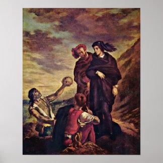Eugene Delacroix - Hamlet och Horatio Poster