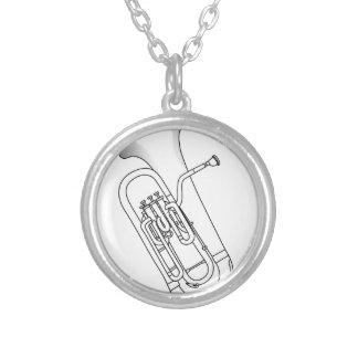 Euphonium Redwork Silverpläterat Halsband