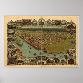 Eureka Kalifornien 1902 panorama- karta Poster