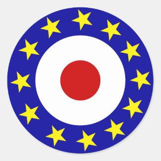 Euromod rundaklistermärke runt klistermärke