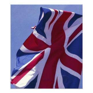 Europa England, brittisk flagga Foton