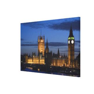Europa ENGLAND, London: Hus av parlamentet/, Canvastryck