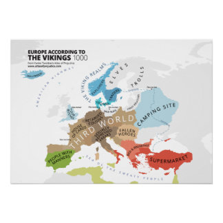 Europa enligt Vikingsna Poster