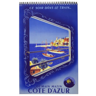 Europa för affischer för kalendervintage resor 14 kalender