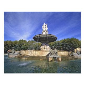 Europa frankrike, Aix-en-provence. Fontaine de Fototryck