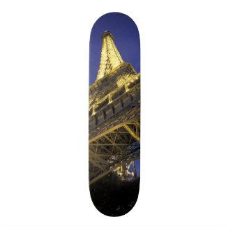 Europa frankrike, Paris, Eiffel torn, afton 2 Skateboard Bräda 20,5 Cm